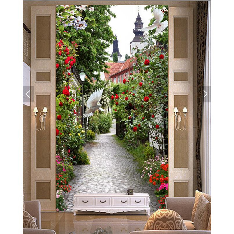 Home Decor Wall Paper 3d Art Mural HD European Style