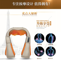 3d Neck U Shape Electric Roller Massage Pillow Heating Kneading Infrared Shiatsu Back Shoulder Body Home