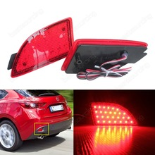 2009-2013  Mazda3Axela Axela BM Axela BL Red LED Rear Bumper Reflector Brake Stop Tail Light(CA241)