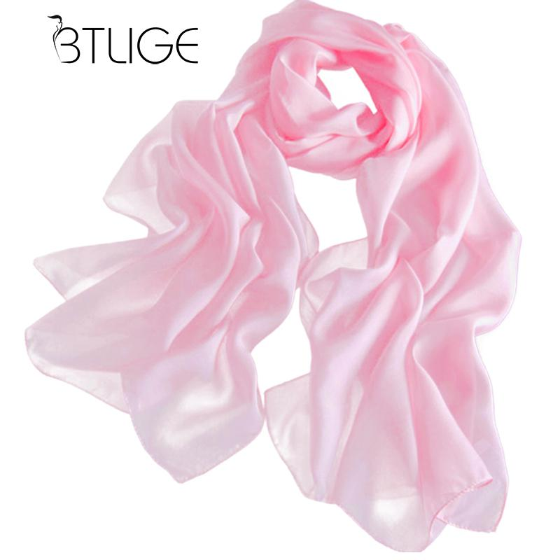BTLIGE Sexy Womens Girls Chiffon   Scarves   Solid Shawl   Scarf   Autumn Winter Top Riding   Wrap   Hijabs Summer Solid Silk   Scarf