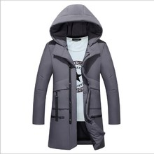 Winter Thick Padded Parka Men Hooded Jacket Coat Cotton Wadded Long Hood Casual Warm Snow Windbreaker Overcoat Male Jackets 4XL