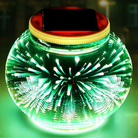 CHICLITS Solar Fireworks Light 3D LED Lantern Lamp Plating IP65 Outdoor Lawn Lamp Lights Sensing Yard Lamps Party Holiday Decor