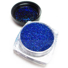 Little Pot of 5g Blue Holographic Nail Glitter-02mm Very Fine Glitter Pigment Polish Resin Powder Pigment_UY0.2