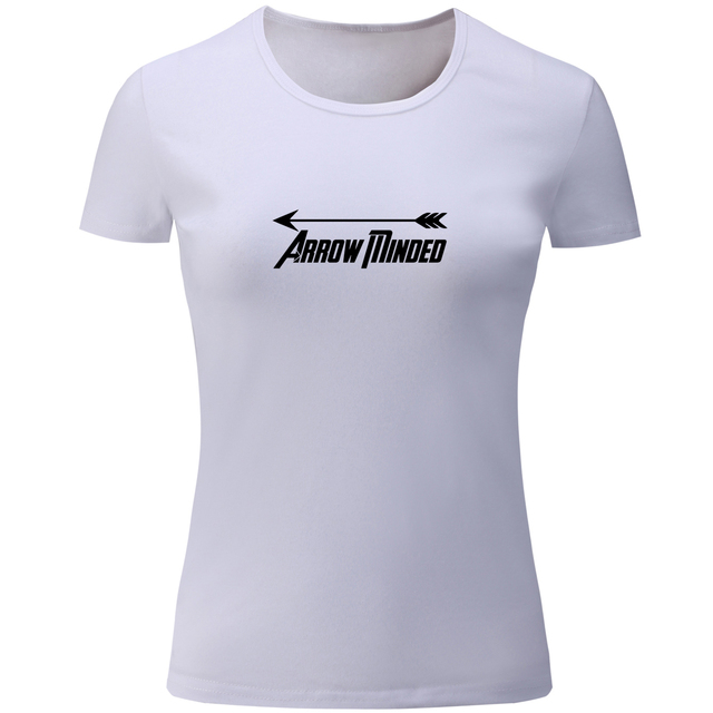 iDzn Fashion Arrow Minded Design Print Summer Short Sleeve T Shirt Women  Multi Color Ladies Girl s Tshirts Casual Loose Tee Tops 77c202cd9d