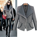 New Winter Coat Women Fashion style Wool Blends Coats Overcoat grey womens winter jackets and coats dames jassen cappotto donna