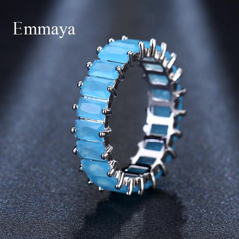 EMMAYA Silver Color Unique Design CZ Ring Paved Austrian Zircon Fashion Women Ring Jewelry 4
