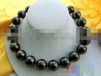 Very Fine nanJ0463 BLACK SOUTHSEA PEARL NECKLAC