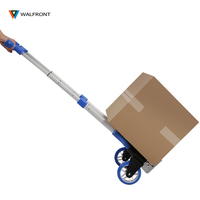 Hand Trolley Travel Accessories Folding Aluminium Alloy Heavy Duty Luggage Trolley Hand Foldable Truck Wheels Rolling