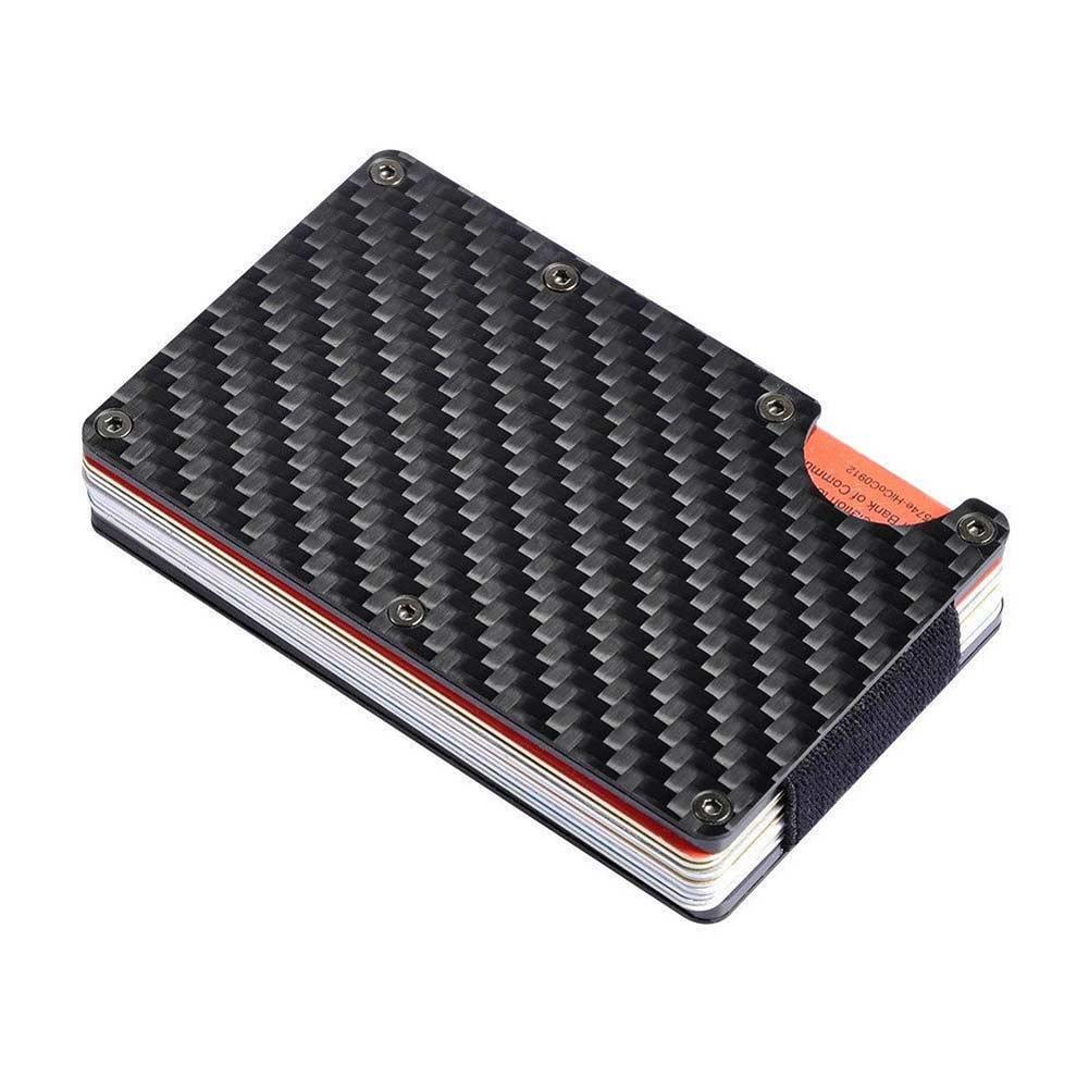 Metal Wallet Money-Clip Carbon-Fiber Business RFID Credit Purse Slim Man Non-Scan Wholesale