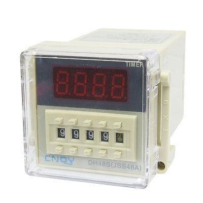 DH48S-2Z LCD Display Timer with Socket 8-Pin DPDT 0.01S-9999H Time Delay Relay 5 pieces h3y 2 power on time delay relay solid state timer max 30m 220vac dpdt