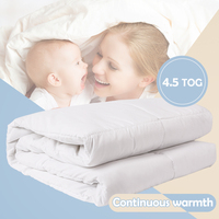 i baby Baby Duvet with Filling 4.5 TOG Oeko Tex Certified Nursery Warm Quilt Crib Bedding Set Cot Newborn Comforter 120x150cm