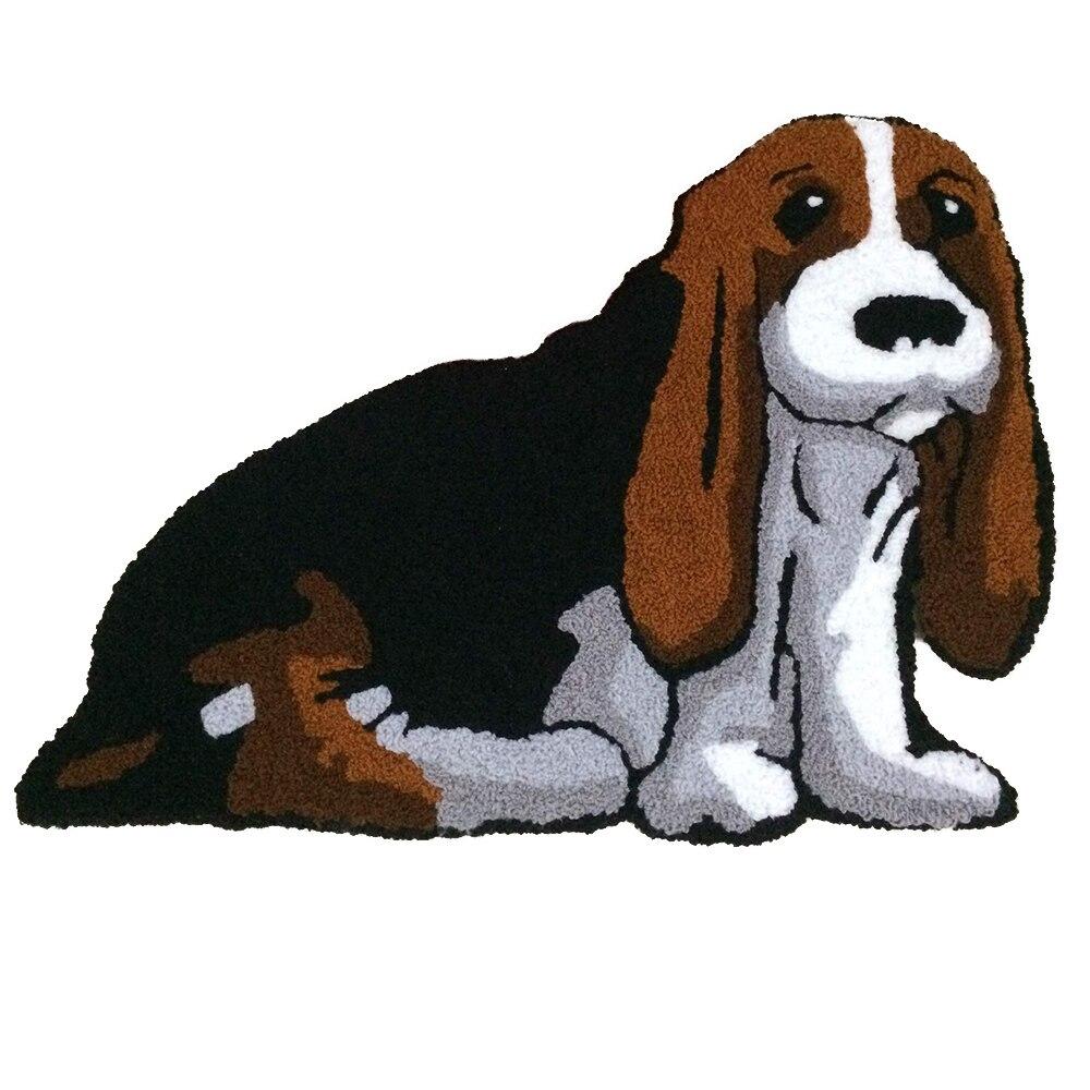 Rug Runner For Dogs: Creative Machine Wash Doormat Rug 3D Pet Dog Design Carpet