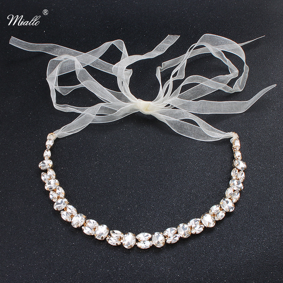 Miallo Fashion Simple Austrian Crystal Women Head Chains Wedding Hair Jewelry Bride Headbands Headpieces Bridal Tiaras Bands