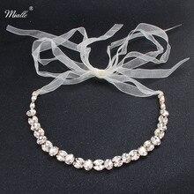 Jewelry Bride Headbands Bridal-Tiaras-Bands Wedding-Hair Miallo Crystal Fashion Women