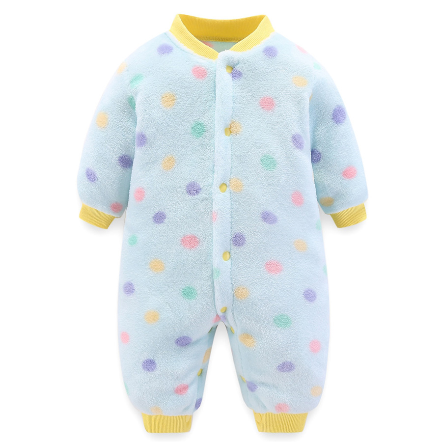 HTB1GUDYal1D3KVjSZFyq6zuFpXaQ winter fleece baby rompers long sleeve newborn coat jumpsuit baby clothes boy girl clothing soft infant new born warm rompers