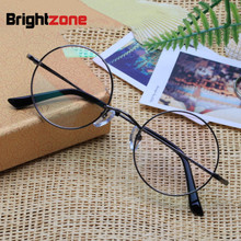 Brightzone 순수 티타늄 복원 고대의 방법 안경 프레임 남자 광학 근시 서클 안경 프레임 부인 안경 프레임 E 8018