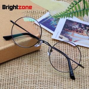 Image 1 - Brightzone טהור טיטניום לשחזר דרכים עתיקות משקפיים מסגרת איש אופטיקה קוצר ראייה משקפיים מעגל מסגרת גברתי משקפיים מסגרת E 8018