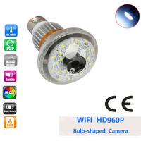 BC 885W ONVIF Wireless WiFi Bulb P2P IP DVR Camera with 5W White LED Light remote by Smart Phone Support TF Card Wifi Cam
