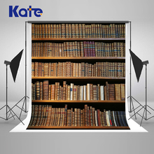Kate  10x10ft Retro Bookcase Photography Backdrops Back To School Photo Backgrounds Books Students Photographic Background