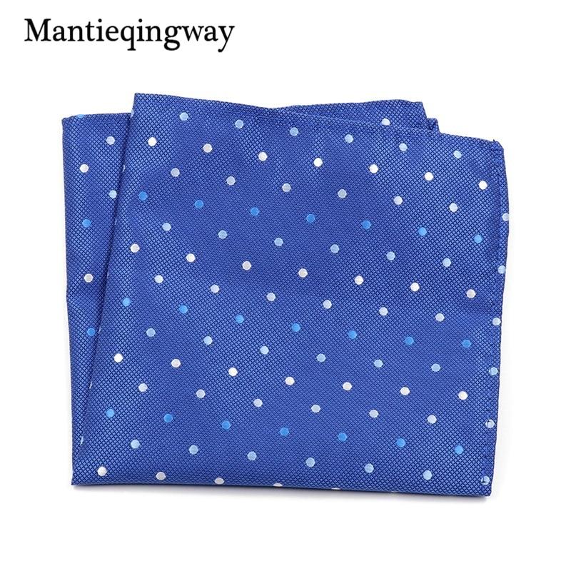 Mantieqingway Mens Clothing Accessories Handkerchief Polka Dots Pocket Square Wedding Wedding Hankies For Men Brand Pocket Towel