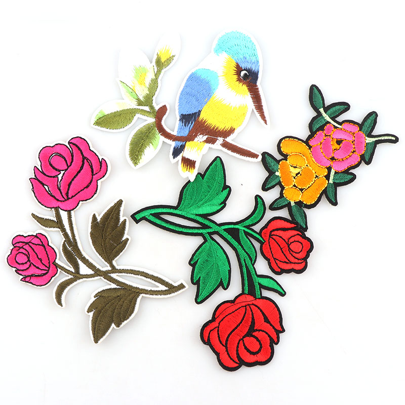 Generous Beadmall 1pcs Flowers Bird With Hat And Beard Diy Embroidered Patches Iron On Cartoon Brooch Applique Embroidery Accessory Home & Garden