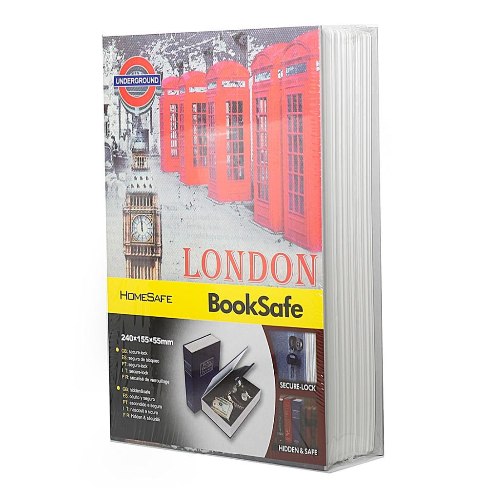 Secret Book Hidden Safe with Key Lock Book Safe Secret Security Safe Lock Cash Money Jewellery Locker Box HOLY BIBLE LONDON