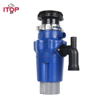 ITOP 1.3L Kitchen Food Waste Disposer Food Garbage Disposal Machine With Air Switch Easy Installing Kitchen Appliance