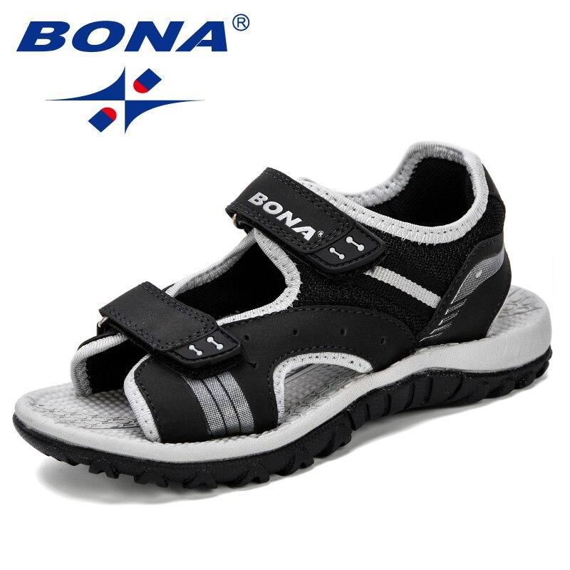 BONA 2019 Hot nouvelle arrivée garçons sandales été semelle souple antidérapant garçons filles chaussures enfants mode plage sandales enfants chaussures d'été