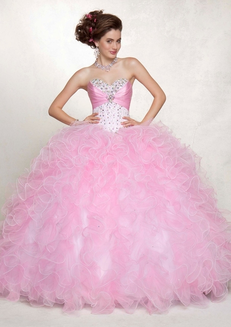 Aliexpress.com : Buy Pink Sweet 16 Dresses Ball Gowns For Birthday ...