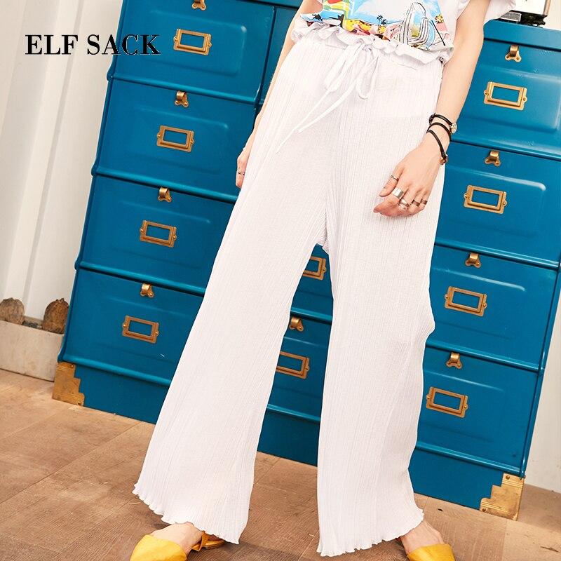ELF กระสอบฤดูใบไม้ร่วงใหม่ผู้หญิงกางเกงสบายๆกว้างขากางเกงผู้หญิงกางเกงชีฟองกลางเอว Party กางเกง Slim Streetwear กางเกง-ใน กางเกงและกางเกงรัดรูป จาก เสื้อผ้าสตรี บน   3