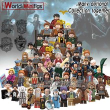 Single Legoings Hogwarts Building Blocks Rubeus Hagrid Hermione Ron Weasley Bole Seamus Finnigan Fantastic Beasts Toys Children(China)