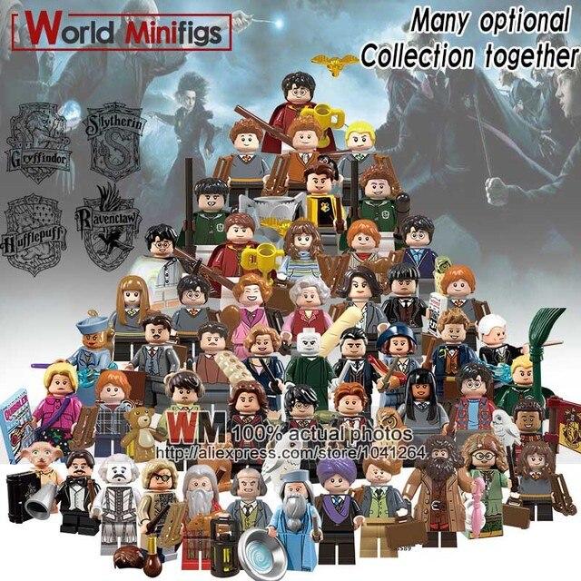 Single Legoings Hogwarts Building Blocks Rubeus Hagrid Hermione Ron Weasley Bole Seamus Finnigan Fantastic Beasts Toys Children