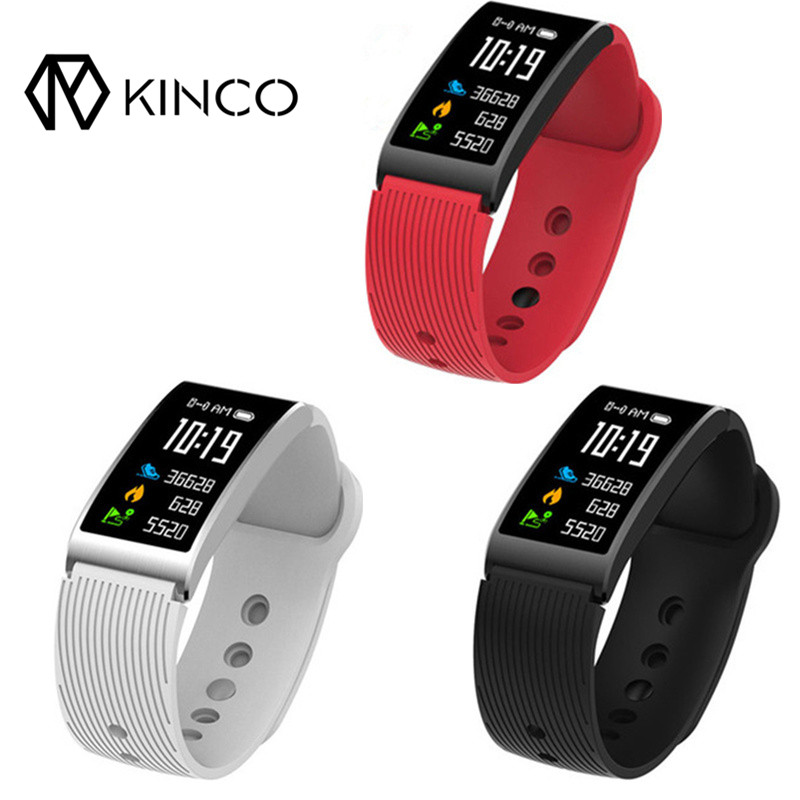KINCO Smart Bracelet OLED Bluetooth Fitness Wristband IP68 Waterproof Heart Rate/Sleep Blood Pressure Monitor Multi-Sport Mode