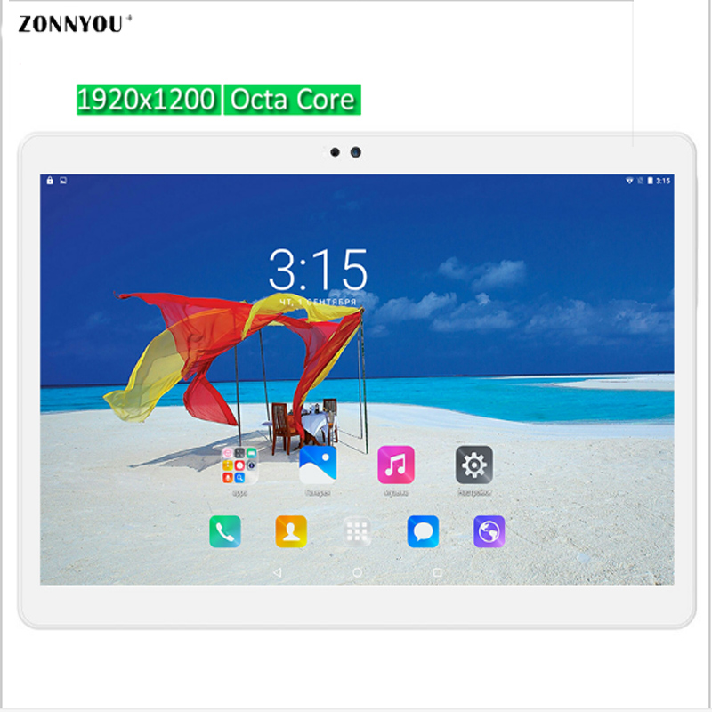 10.1 inch Tablet PC 3G 4G Call Octa Core  Phone Call card Android 6.0 WiFi GPS Tablet pcs 1920x1200 Tablets Ultra Slim Dual SIM автомобильный dvd плеер joyous kd 7 800 480 2 din 4 4 gps navi toyota rav4 4 4 dvd dual core rds wifi 3g