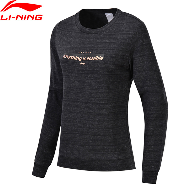 Li-Ning Women The Trend PO Knit Top Sweaters Comfort Fitness 58%Cotton 48%Polyester LiNing Sports Sweater AWDN134 WWW967