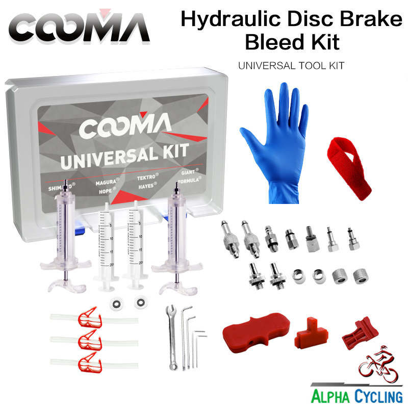 COOMA's Hydraulic Brake BLEED KIT for Universal Brake System, Mineral Oil and DOT Fluid Brake system, Ultimate Kit motul dot 5 1 brake fluid