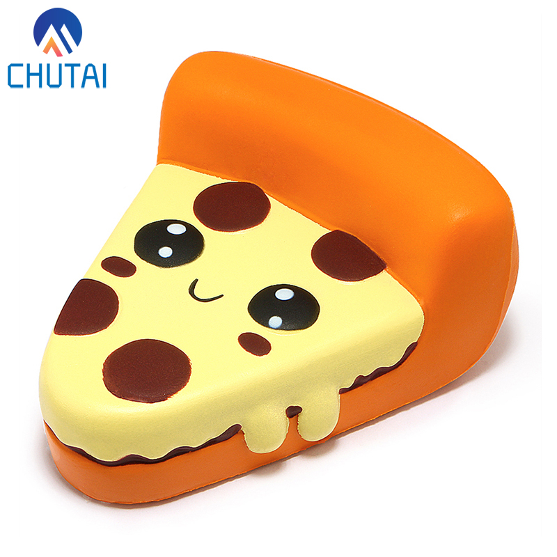 Kawaii Expression Pizza Squishies Cream Scented Slow Rising Kids Toys Stress Relief Toy Xmas Party Decor Gift 10*12*5.5 CM