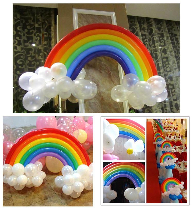 Hot Sale Party Decoration Rainbow Latex Balloon Wedding