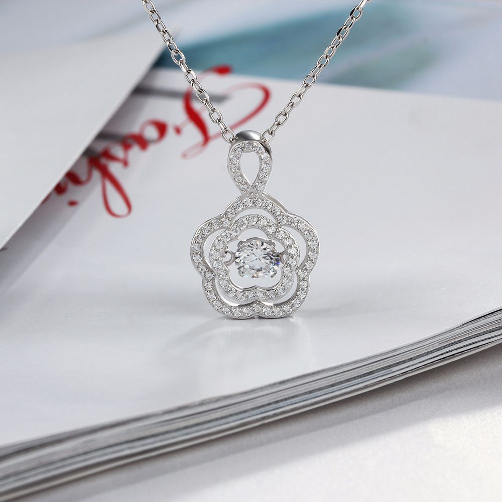 LVP39 women fine jewelry,super shiny sunflower pendant,925 sterling silver necklace for beloved queen ying vahine 925 sterling silver jewelry shiny stars pendant necklace