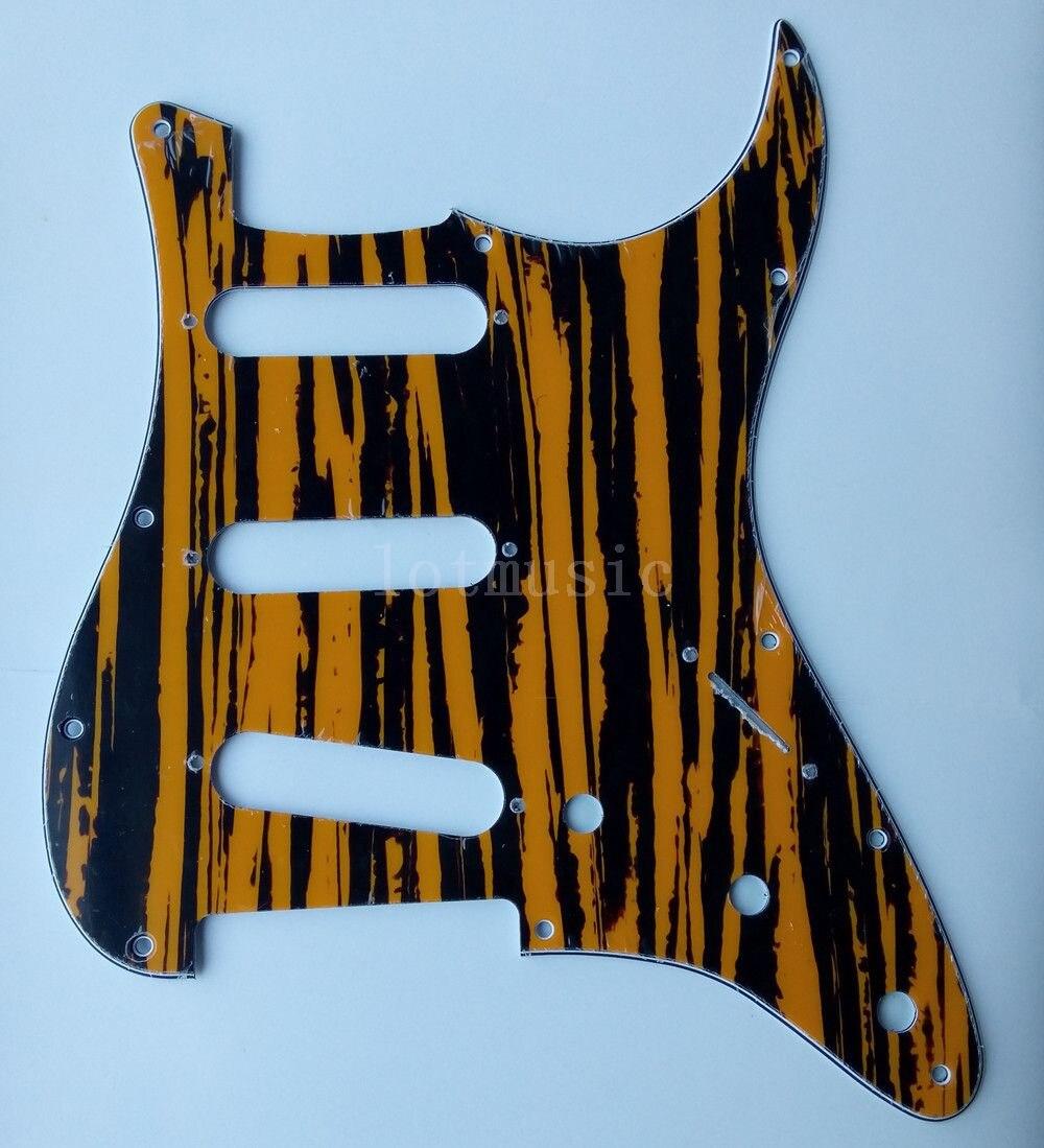 6 pièces nouveau 3 plis jaune Sallow Pickguard pour garde-boue ST Strat guitare remplacement