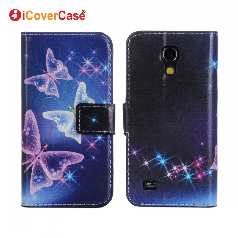 For Samsung S4 Mini Case Flower Wallet Leather Phone Cases Coque Hoesjes for Samsung Galaxy S4 Mini i9190 i9195 Capa Fundas Etui