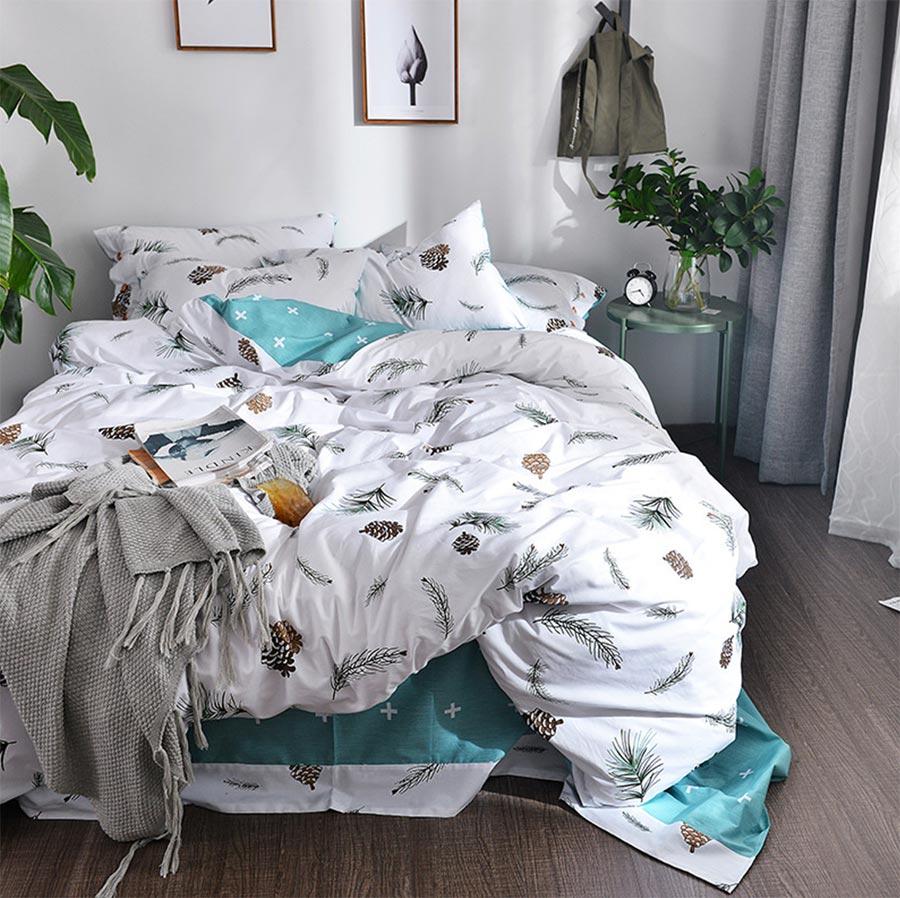 nordic design single double bedding set adult girltwin
