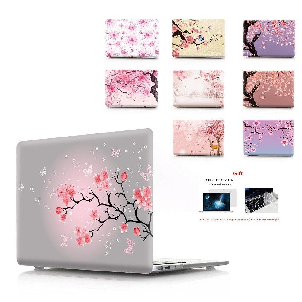 Drukowanie w kolorze kwiatowym etui na notebooka Macbook Air 11 13 Pro Retina 12 13 15 calowe kolory pasek dotykowy nowy Pro 13 15 nowe powietrze 13Torby i etui na laptopy   -