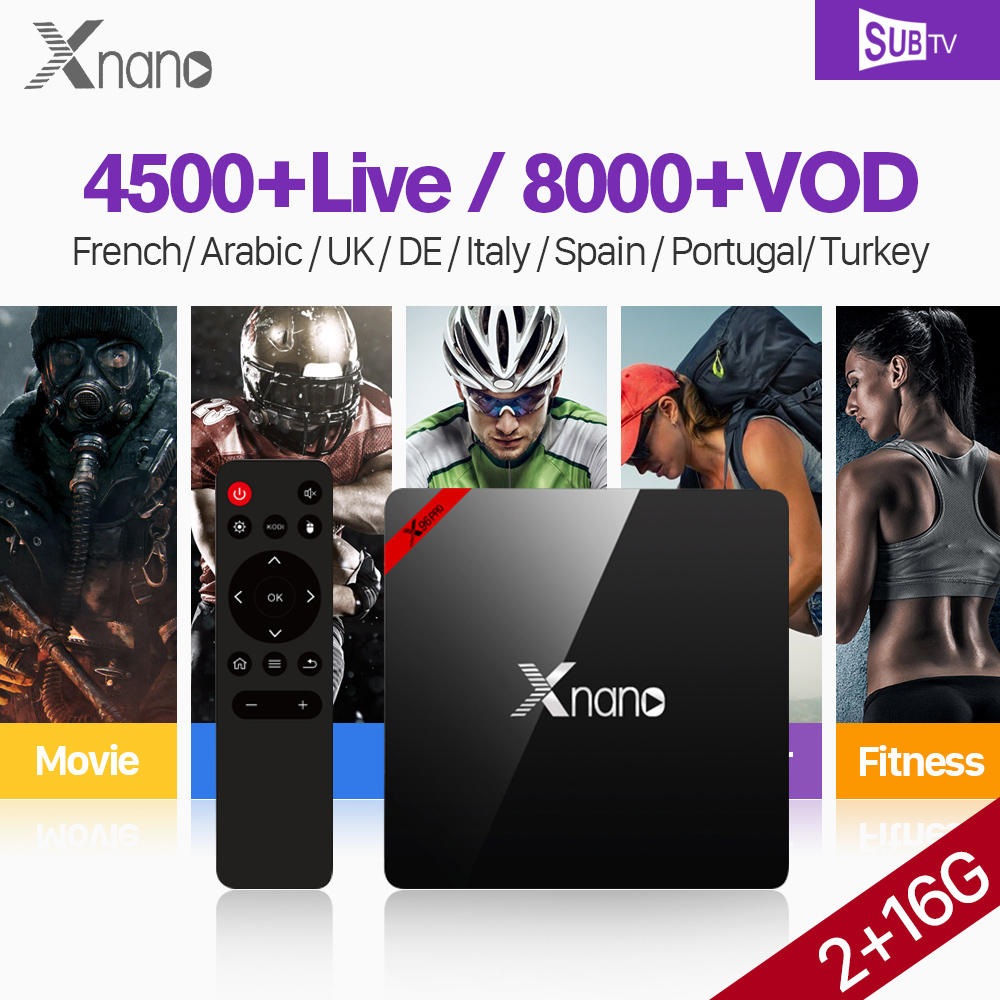 TV IP arabe France IPTV abonnement S905X Android TV Full HD Live Android Box Tv 4K SUBTV turquie Portugal albanie Code IPTV