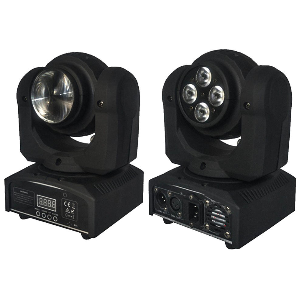 2pcs Double Face 4x10w Led Stage lights +1x10W LED Moving Head Light