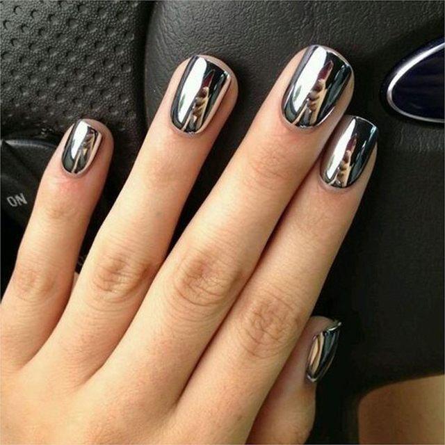 Online Shop Women Mirror Powder Effect Chrome Nails Pigment Gel ...