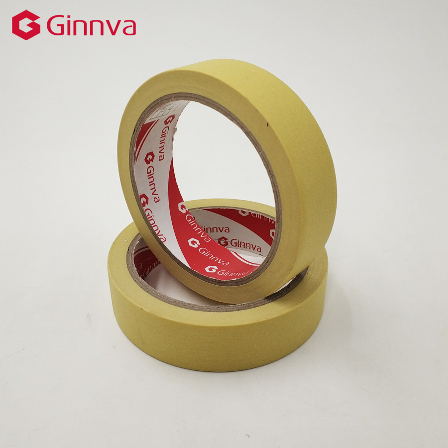 The Best Ginnva Masking Tape Yellowcolor 12/18/24/48mm Single Side Adhesive Crepe Paper Cool In Summer And Warm In Winter Home Improvement Hardware