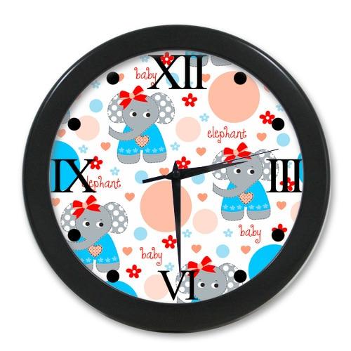 New Style Wall Decor Clock Custom Cute Cartoon Baby