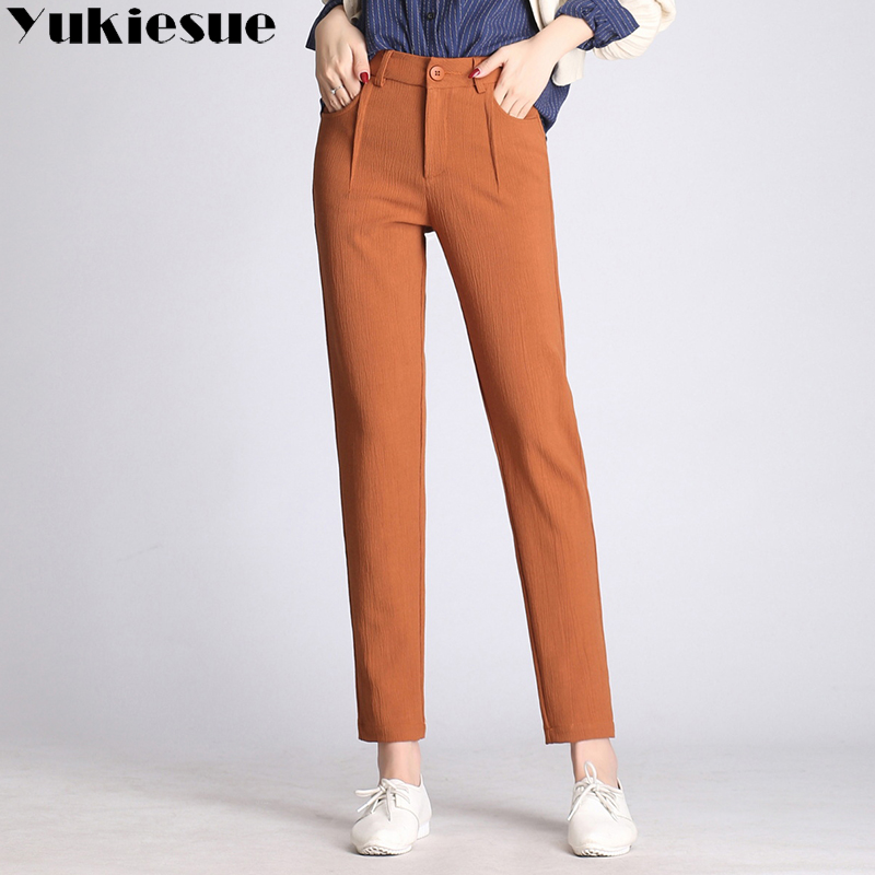 High waist harem   pants     capri   women 2018 autumn winter skinny OL office work wear casual female trousers plus size pantalon femme