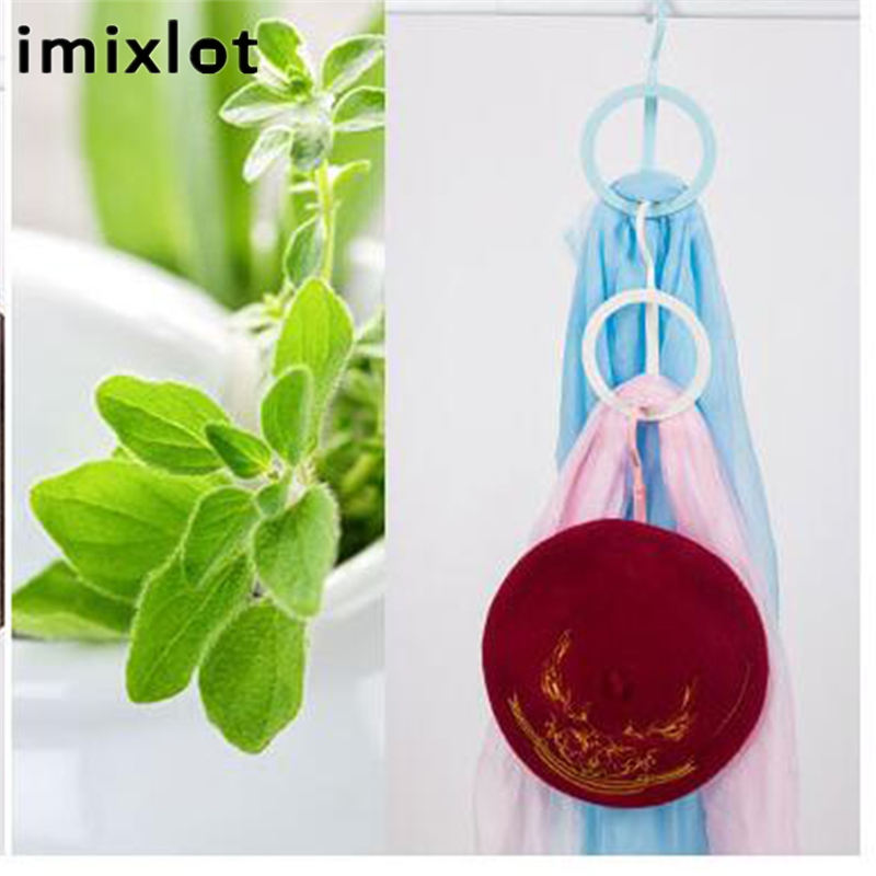 Imixlot Plastic Wall Mounted Multi-use Coat Hook Hat Scarf Storage Racks Non-nail Clothes Rack 3 Colors Available
